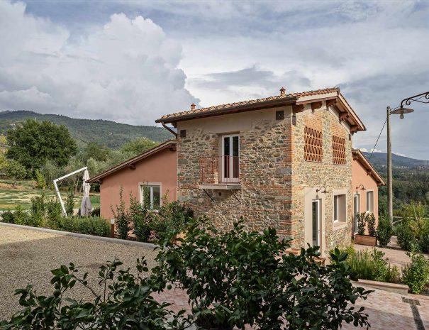Esterni Podere Giusti, agriturismo in Toscana