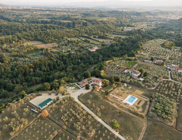 Veduta Aerea Podere Giusti, Agriturismo in Toscana