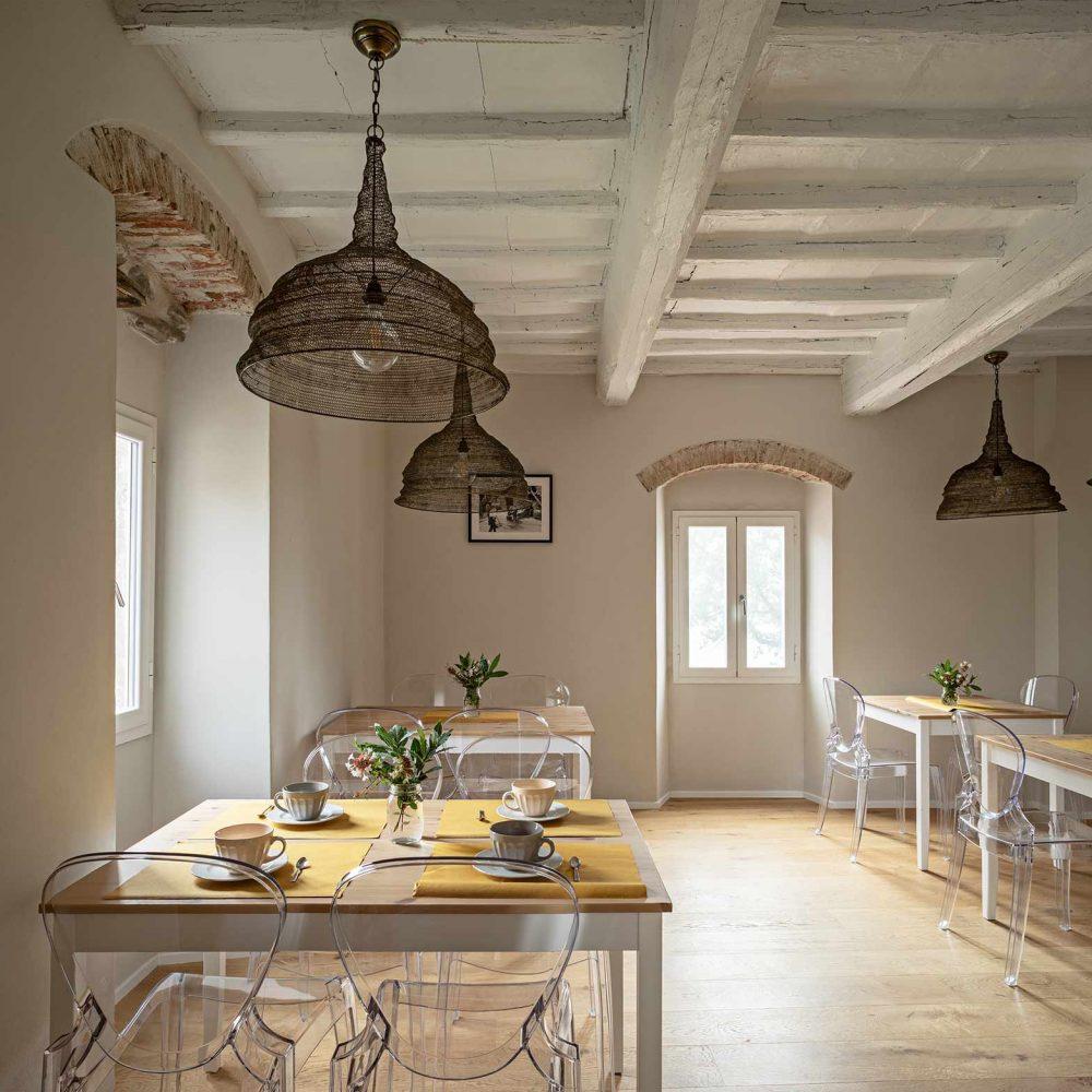 Reception - Sala Colazione Podere Giusti, Agriturismo in Toscana